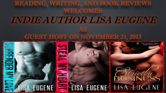 Reading, Writing, and Book Reviews welcomes lisa eugene