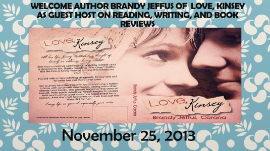 Welcome Author Brandy Jeffus of  Love, Kinsey