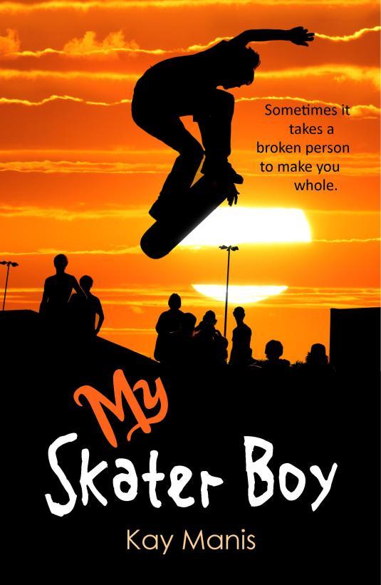 My Skater Boy Book Cover Orange Pixels
